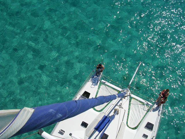 Catamaran from Top